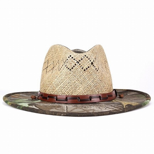 3c9ef538 ... Cowboy hat men's / men's straw hats / real Camoflage pattern hat and  straw hat wide ...