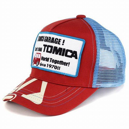 Tomica TOMICA Cap fashion shovel Hat Cap logo wappenn boys spring summer girl child Tomica/red (Cap store CAP and sleek stylish)