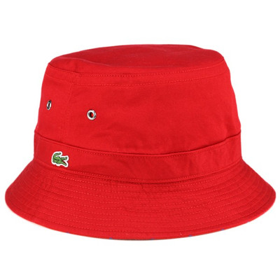 9848b556863 ELEHELM HAT STORE  Hats bucket hat and Safari Hat cameraman Hart   Lacoste  hat and reversible cotton   red (10P07Nov15)