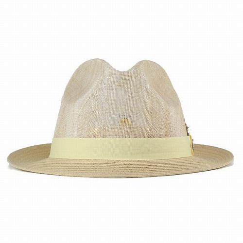 ハット メンズ 春夏 ステイシーアダムス 中折れハット 通気性抜群 レディース 生成 キナリ(紳士帽子 メンズハット 中折れ帽子 50代 60代  70代 ファッション 男性