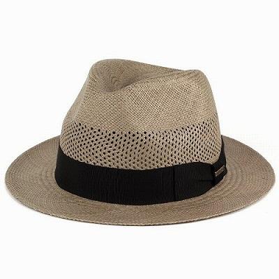 パナマハット レディース ステットソン パナマ帽 メンズ エクアドル STETSON レース編み グレー ダークベージュ(パナマ M L LL 59cm 59.5cm 61cm 中折れ帽子 紳士 40代 50代 60代 ファッション メンズハット アメカジ 男性 紳士帽子 中折れハット ぼうし) [panama hat]