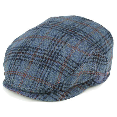 ハンチング メンズ アイビーキャップ タータンチェック 帽子 秋冬 トレンド 耳あて wigens チェック柄 ブルー ヴィゲーンズ 帽子 耳あて付き メンズ