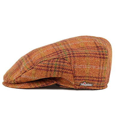 Hunting men s Ivy Cap Tartan Hat autumn winter trends ear muffs   wigens  check pattern Orange 317419422be