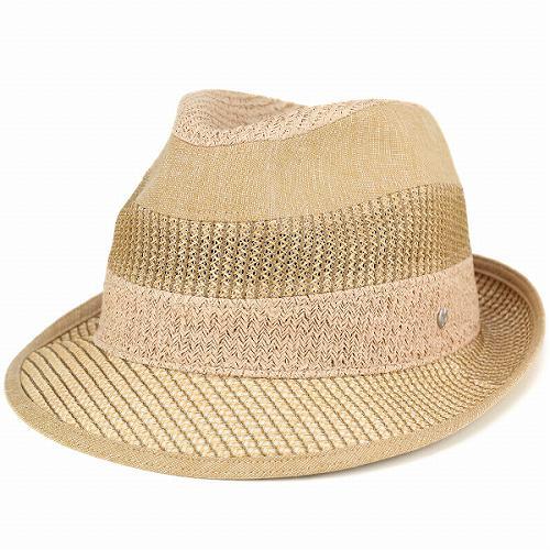 ハット メンズ ミラショーン 40代 50代 60代 70代 ファッション 夏 メッシュ 中折れハット 夏の帽子 イタリアブランド mila schon 日本製 ベージュ 中折れ帽 紳士帽子 メンズハット メンズ帽子 中折れ帽子 男性 おしゃれ 通販 ブランド帽子 アメカジ ぼうし [fedora]