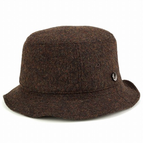 a94fe81d829 ELEHELM HAT STORE  Bucket Hat autumn winter   borsalino double face flannel    Safari photographer   Brown Brown (autumn winter Hat) (10P07Nov15)