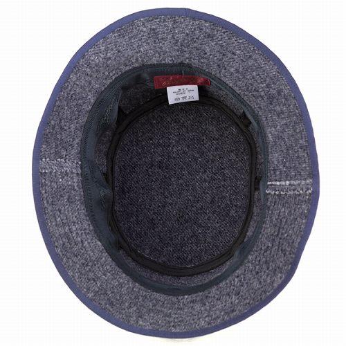 Hats bucket Hat Safari brushed Melton leather batch borsalino Hat Navy Blue  Navy (fall winter Hat) 68afad0ebfed