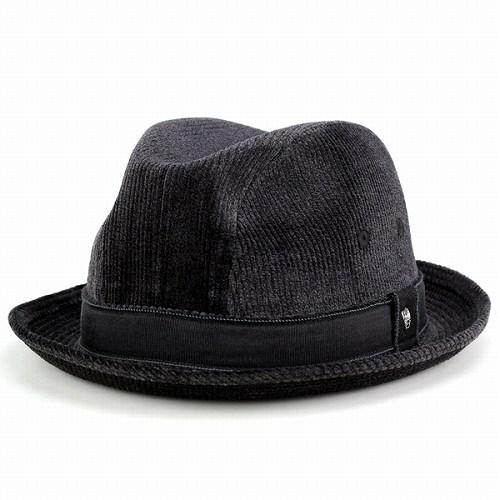 中折れ帽 ハット ダックス メンズ ファッション DAKS 帽子 コーデュロイ 光沢 中折れハット 紳士 おしゃれ チャコールグレー (帽子 秋冬 ハット) [fedora]
