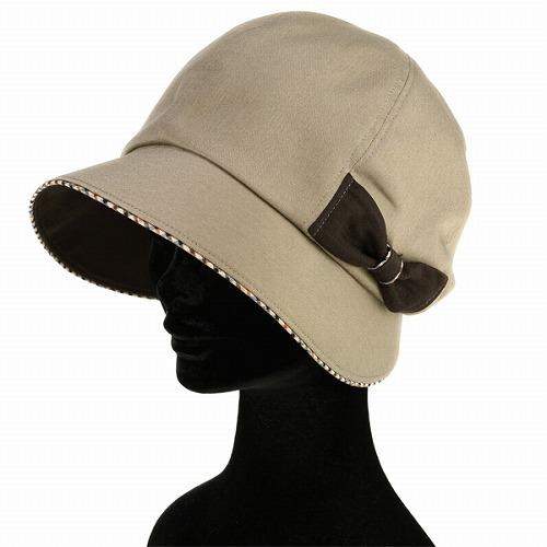 DAKS Dax kathcrocshe Hat ladies Ribbon tasteful women's autumn/winter made in Japan / beige