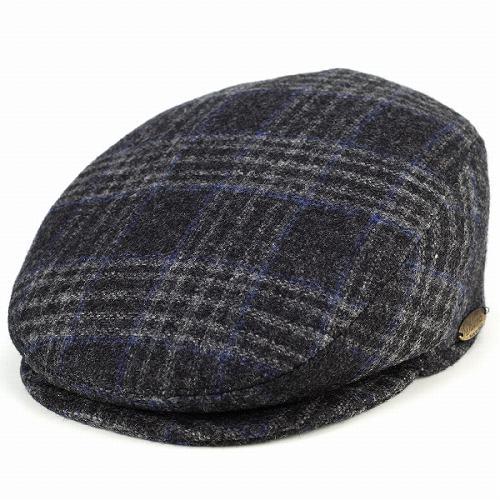ハンチング メンズ dalena メンズ 帽子 ダレーナ イタリア ハンチング帽 紳士 秋冬 ツイード モヘア混紡 チャコール系 [ivy cap]