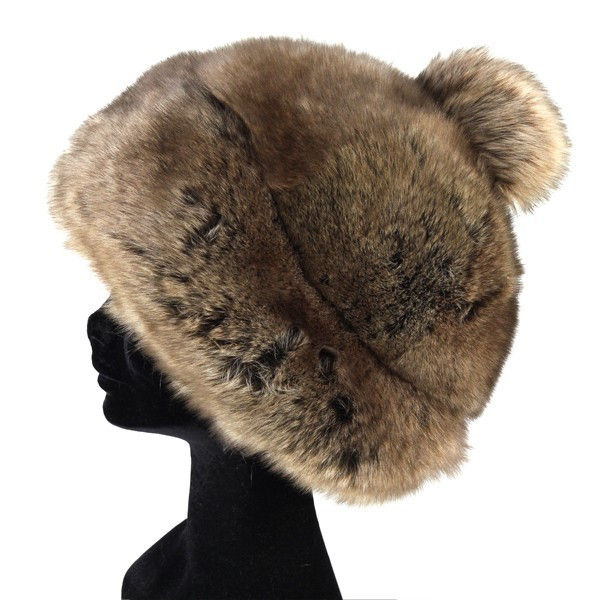 2ee14a37aef18 GREVI grevi fall-winter luxury Madame Hat Russia Italy ladies Hat Lamphere  with   Brown