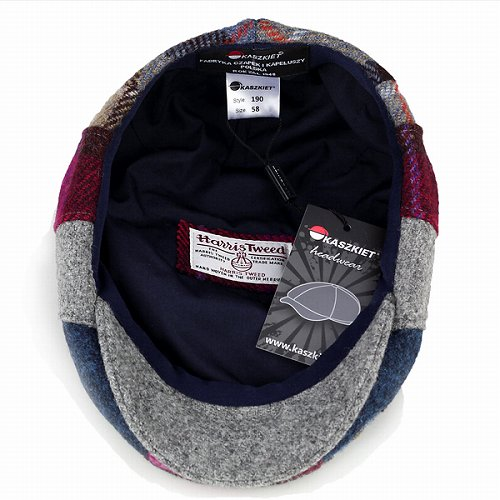 7b97349cb0431 Casket Cap men Hat autumn winter Harris Tweed patchwork Ivy Cap   multi  colourful