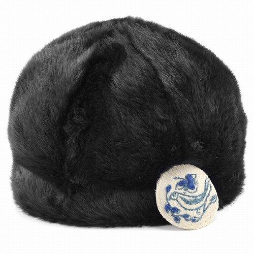 バラ色の帽子 ファー&ニット リバーシブル キャップ レディース ばら色 ニット帽 かわいい 帽子 秋冬 おしゃれ Barairo no boushi 2WAY (ニット帽 おしゃれ)紺 ネイビー ファー [fur cap] [knit cap]