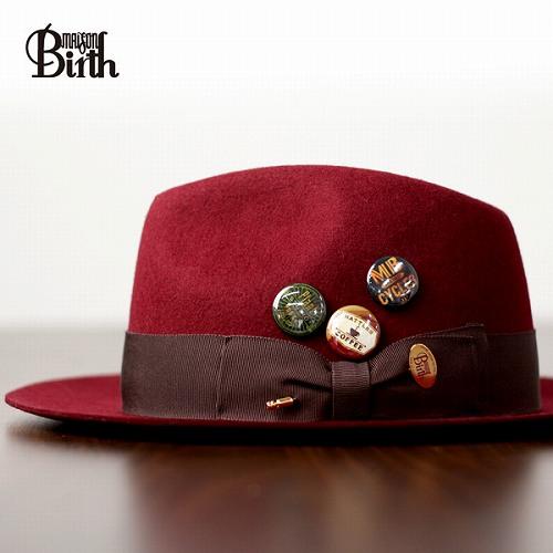 115196ea236db1 MAISON Birth meson birth felt hat made in Japan wool felt turu Hat winter  hat can ...