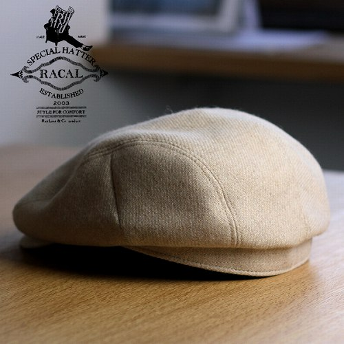 Racal hunting local / Tweed hunting racal / simple design autumn/winter / ivory (hat-mens men's fall winter brand)