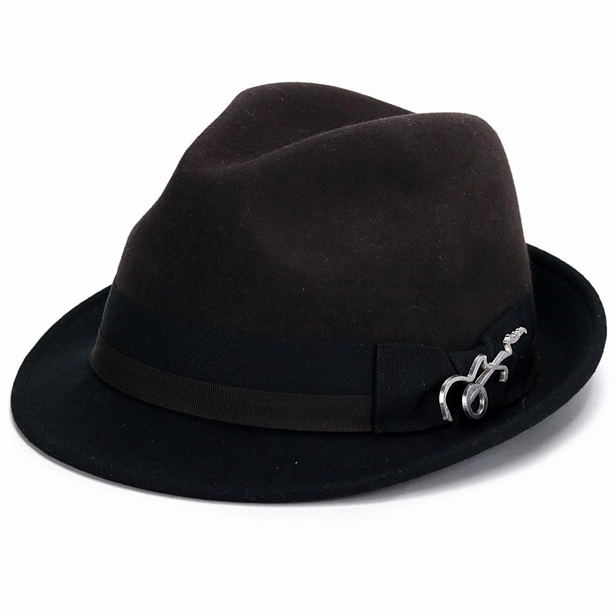 Carlos Santana hat men felt hat Shin pull Carlos Santana hat 2  トーンショートブリムフェドラ ... d284911316f