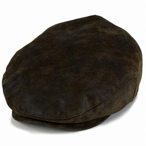 STETSON ハンチング メンズ ステットソン ハンチング 帽子 レザー 秋冬 大きいサイズ ハンチング帽 紳士 シンプル 無地 革小物 レザー100% かっこいい 大人 アイビーキャップ ウェザードレザー M L XL / 茶 ブラウン [ ivy cap ] 男性 クリスマス プレゼント 帽子