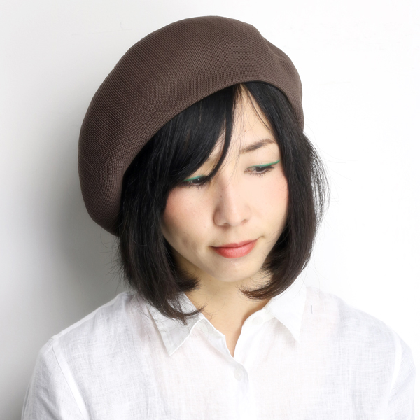 ... Large hats women s hats beret relaxed silhouette beret evisu spring  summer made in Japan tea Brown ... 005de8e3cbc