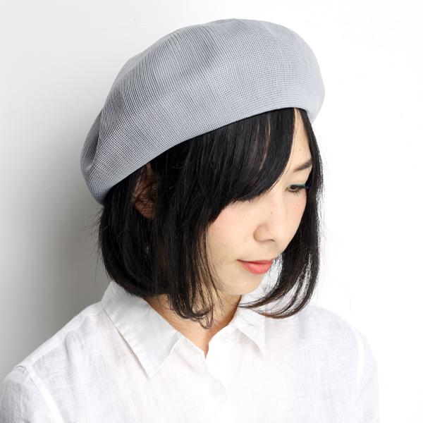 Large hats women's hats beret loose silhouette spring summer evisu Japan  gray (bladder and larger size knit beret style hat evisu Cap summer berets