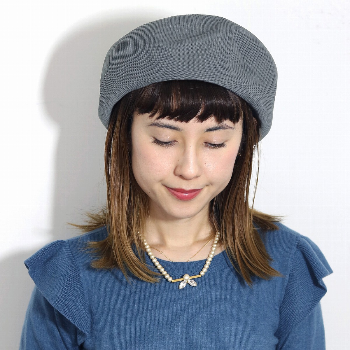 ... Product made in beret Lady s hat size grain loose silhouette beret  summer knit knit beret plain ... 127197be8df