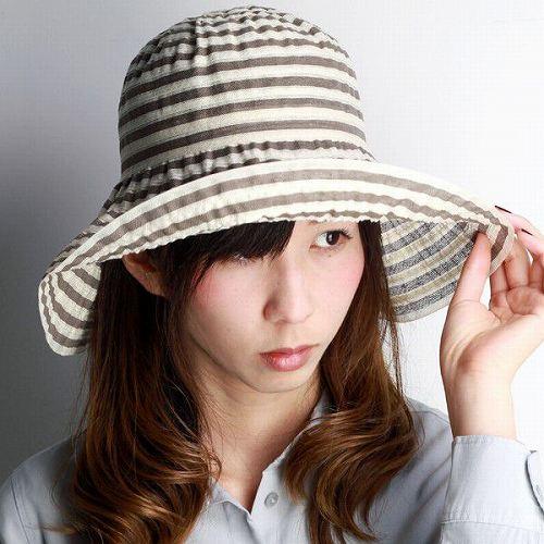 GREVI 帽子 レディース つば広 ハット グレヴィ イタリア製 ブランド帽子 ツバ広ハット 春夏 マリン 40代 50代 60代 70代 ファッション 紫外線対策 ボーダー リボン 茶 ブラウン [hat](つば広ハット おしゃれ 女優帽 ファッション小物 日よけ 婦人帽子 ぼうし UVカット帽子)