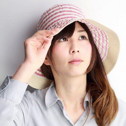 GREVI 帽子 レディース つば広ハット グレヴィ 春夏 ツバ広ハット ボーダー 紫外線対策 イタリア製 ブランド帽子 おしゃれ 40代 50代 60代 70代 ファッション マリン 日よけ 軽い 赤 レッド [hat](婦人帽子 プレゼント UVカット帽子 女優帽 ファッション小物 誕生日 ぼうし)