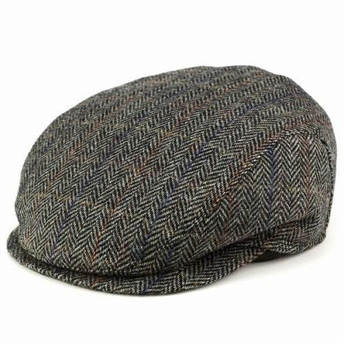 wigens Cap /magee Maggie / Tweed wool / men's hats / Vignes autumn/winter ear muffs / herringbone dark grey