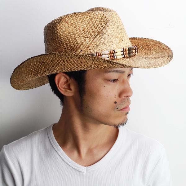 b55828b9b32e8 Cowboy hats men s straw hat men s hats raffia spring summer straw henschel  brand Henschel Fedora Hat straw hat straw wood beads belt casual hat (hat  store ...