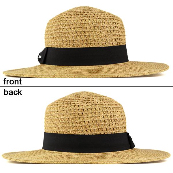 Boater women s straw hat men s boaters Hat brooklyn hat Cap spring summer  Brooklyn Hat paper blade straw hat Hat paper hat size adjustable Black  Ribbon ... 8fc039e57534