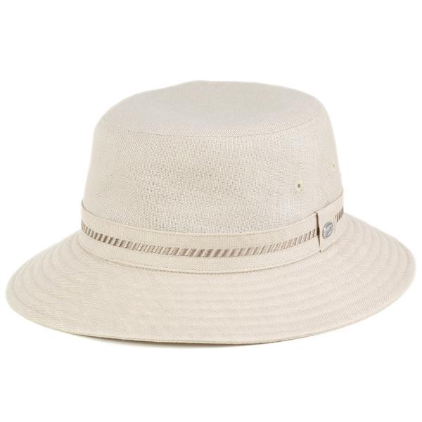 borsalino ハット メンズ ボルサリーノ 帽子 サファリハット リネン 春 夏 小さいサイズ 大きいサイズ 3L 4L バケット 日本製 麻100% ベージュ [ bucket hat ](バケットハット カメラマンハット 紳士帽子 ブランド サハリハット ミリタリーハット 中央帽子 メンズハット)