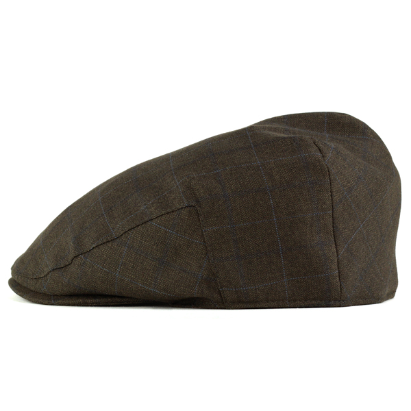 e22ade0e6b9 Light cool hunting men s spring summer Hat check Christie s London brand  hats UK check wool fabric check pattern tea Brown ivy cap (Cap and gentleman  Hat ...