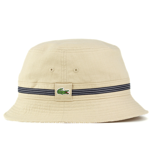a2e70dfc8e Safari Hat men's hats Lacoste spring summer gingham ladies bucket Hat  awning sahari hat made in Japan has beige hemp [bucket hat