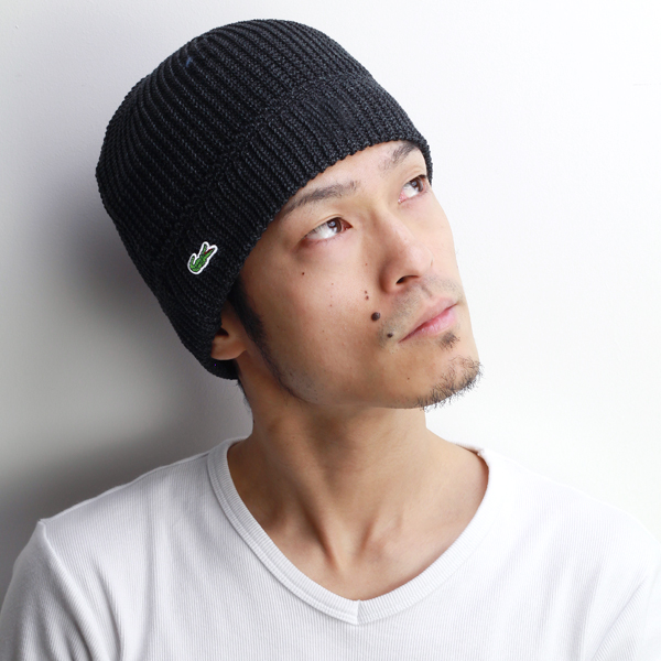 1c41a6fdd78 Knit hat men s lacoste evisu Cap outfit Lacoste Womens Hat watch spring  summer knit outdoor sports crocodile brand Hat knit hat Japan-made cotton  100% black ...