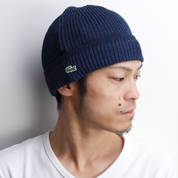 25938fe31b1 Knit hat men s lacoste evisu Cap outfit Lacoste Womens Hat watch spring  summer knit outdoor sports crocodile brand Hat knit hat Japan-made cotton  100% Navy ...