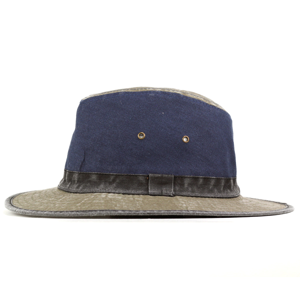 Hat mens sahari Hat Hat awning damage processing Dark Navy Blue (mountain Safari Hat photographer men's alpine hut Festival baguette Hat bucket Hat adventure Hat safari Hat) [10P01Oct16]
