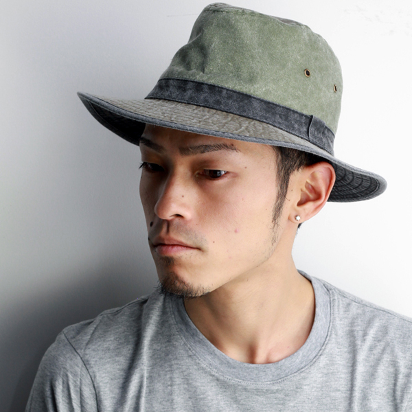 f238cd4a9 Hat mens sahari Hat hats / washed cotton / Dorfman Pacific 2-tone Safari  Hat outdoors Hat awning damage processing fashionable / olive series (men's  ...