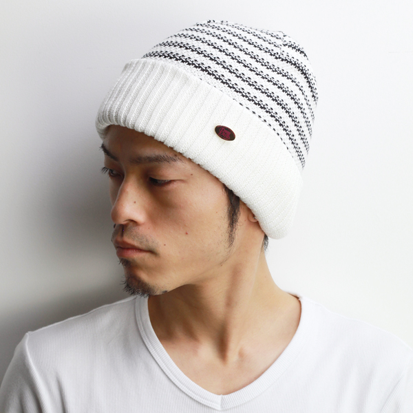 4871b6925ba7 Knit hat mens watch spring summer meson birth knit hat women's striped knit  breathable cotton Polo ...