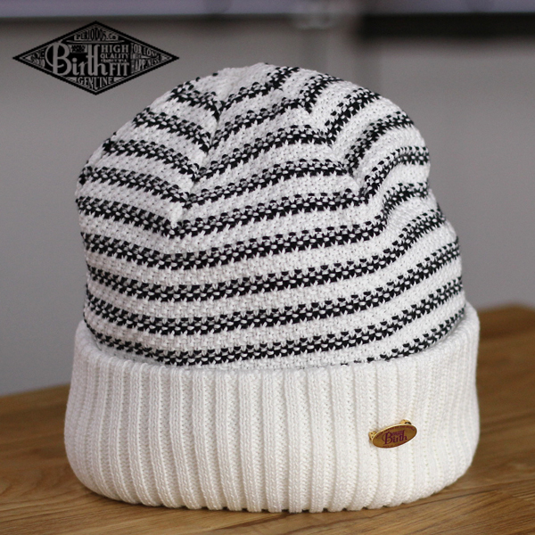 41b89e29bfec ... Knit hat mens watch spring summer meson birth knit hat women's striped  knit breathable cotton Polo