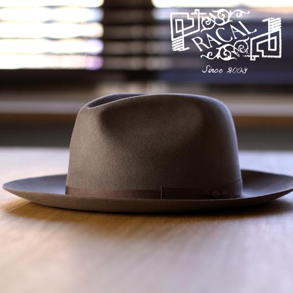 6a97f56f6d56a Racal Hat mens collar wide tear drop Hat rabbit wool felt made in Japan Fedora  wide
