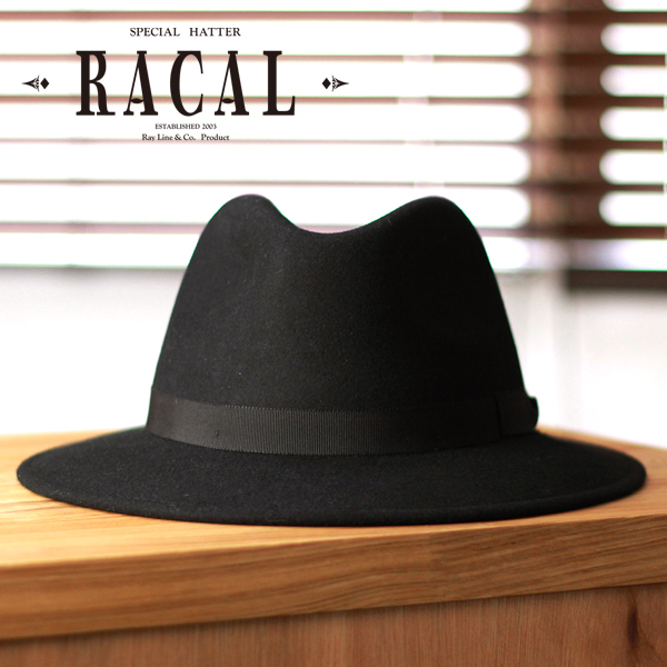 0c8c1732 Racal men's / men's hat / local turu hat and felt Hat folding / made in  Italy racal / size adjustment-Black Hat】 (bladder and mens Hat men's hats  ...
