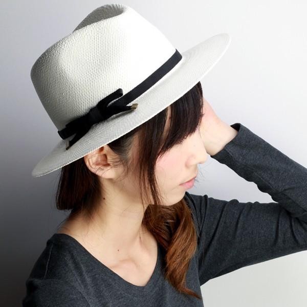 HATS&DREAMS 帽子 メンズ レディース パナマハット 麦わら帽子 春夏 ストローハット 中折れハット ハット&ドリームズ 40代 50代 60代 70代 ファッション イタリア製白 ブラックリボン [straw hat] [fedora](メンズハット 紳士 パナマ帽 麦わらハット 中折れ帽子 黒 紳士帽子)