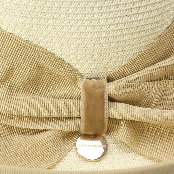 HATS & DREAMS 고리 넓은 모자 여성 선원 모자 모자 및 드림 모자 브랜드 이탈리아 트 바 広春 여름 피서지 패션 세련 리본 하트 여성 종이 블레이드 블리치 리본/화이트 백색 어머니의 날 선물 추천