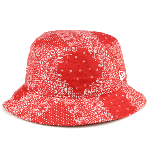 ELEHELM HAT STORE  New era mens Hat sahari Hat Newera Paisley print bucket Hat  newera pattern bucet01 paisley Red  bucket hat  (climbing Safari Hat ... 090416ed57f9