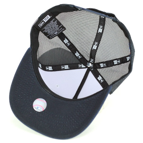 Newera盖子人扬基队新埃拉网丝盖子尺寸调整帆布藏青色深蓝[baseball cap](绅士帽子棒球盖子棒球帽子50几岁的60几岁的时装new era网丝名牌帽子新埃拉盖子人帽子舞蹈服装平地)