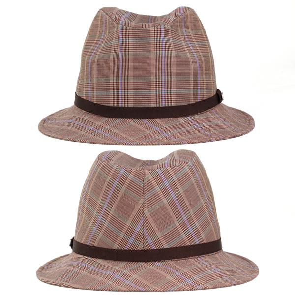 b4547711814 Borsalino Hat mens turu Hat spring summer hats check pattern shade borsalino  zignone SignOn Glen check gentleman gift Brown Brown (mens hat store men s  hats ...
