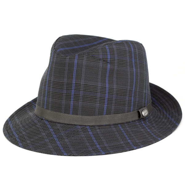 60a6799ea4d Borsalino Hat mens turu Hat spring summer Hat check pattern shade borsalino  zignone SignOn Glen check gentleman gift charcoal series (mens hat store  men s ...