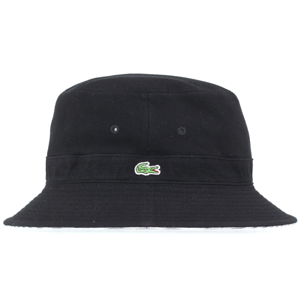 811450147c Lacoste Hat Sun Hat reversible Safari Hat spring summer hats men s bucket  Hat Hat hat made in Japan black black stripes (climbing photographer hats  ...