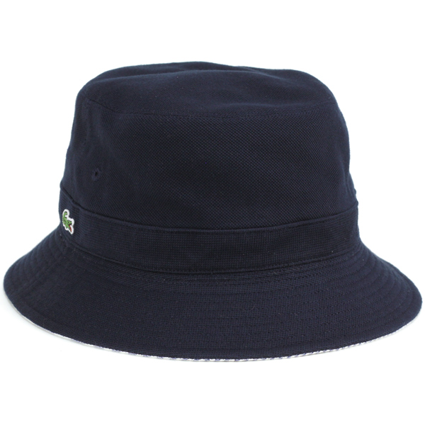 ea2e366d5d2 Lacoste Hat Sun Hat reversible Safari Hat spring summer Hat striped Lacoste  men s bucket Hat   Hat gentlemen   polo hat   made in Japan Hat   Navy Navy  ...