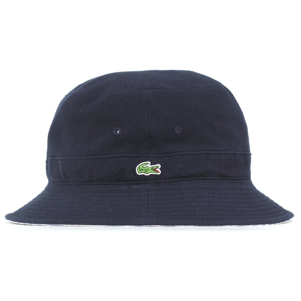 6fec11c7ad29 Lacoste Hat Sun Hat reversible Safari Hat spring summer Hat striped Lacoste  men s bucket Hat   Hat gentlemen   polo hat   made in Japan Hat   Navy Navy  ...