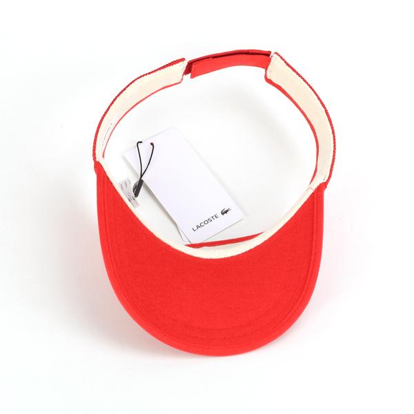 썬 바이 저 남성 UV 가공 라 코스 테 썬 바이 저 여성 스포츠 차양 모자 천 자외선 방지 라 코스 테 lacoste 여성용 모자 고리 고 UV 컷 일본 제 악어 브랜드 레드 빨강 [visor] 10P03Dec16