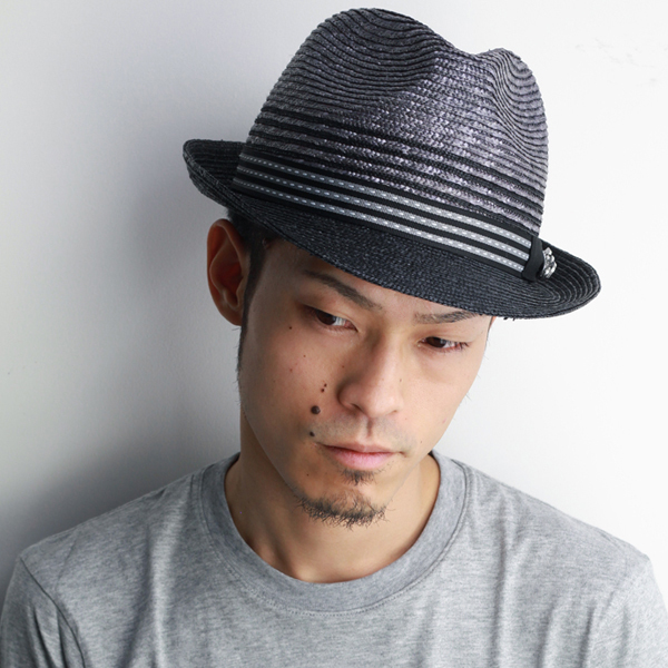 649ff95bc9c ELEHELM HAT STORE  Hat men s spring summer CARLOS SANTANA turu Hat Hat  paper Hat Carlos-Santana import brand men s monotone gray  straw hat  (mens  Hat men s ...
